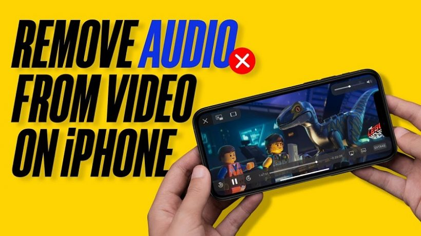 How to remove audio from a video on my iPhone?